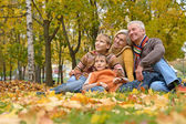 Friendly family walking — Stock Photo