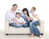 Portret rodziny kaukaski — Zdjęcie stockowe