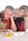 Donna di prendersi cura del malato — Foto Stock