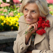 Beautiful womholding rowan — Stock Photo #29190387