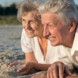 Loving elderly couple  — Stock Photo