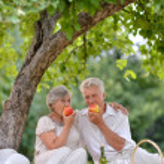 Happy aged couple — Stock Photo #29199247