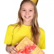 Young girl in yellow shirt — Stock Photo #29199675