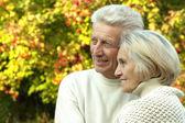 Nice old couple standing — Stock Photo