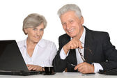 Two people working — Stock Photo