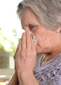 Woman feel unwell — Stock Photo