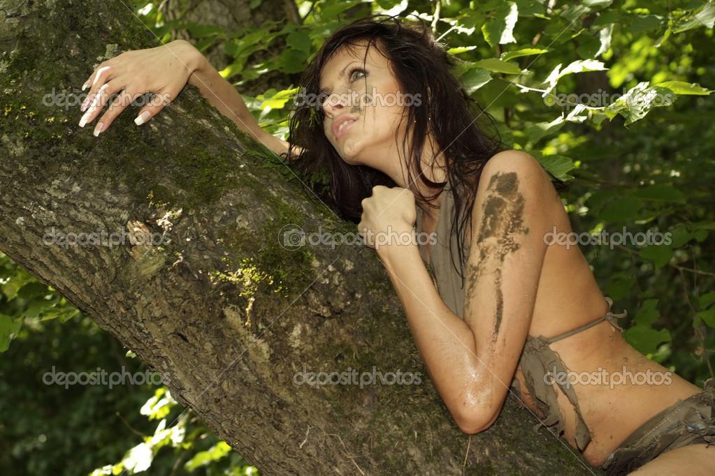 girl in loincloth stock - photo #1