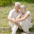 Stock Photo: Older couple in love