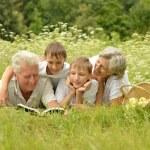 Happy family having a picnic on a sunny summer day — Stock Photo #29765519