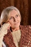 Vacker äldre kvinna — Stockfoto