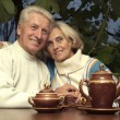 Happy beautiful elderly people — Stock Photo