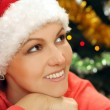 Girl in santa hat — Stock Photo #29825351
