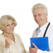 Stock Photo: Elderly doc with patient