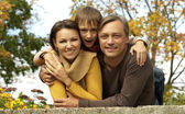 Happy family together relaxing — Stock Photo