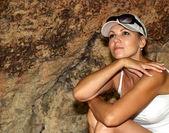 Viajero de bella mujer — Foto de Stock