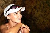 Viajante de mulher bonita — Foto Stock