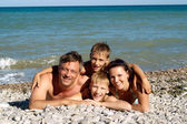 Charming family have a great time — Stock Photo