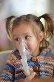 Baby makes inhalation — Stock Photo