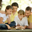 Reading family — Stock Photo #30069561