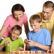 Family playing the constructor — Stock Photo #30069683