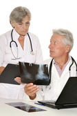 Doctors in a white coat — Stock Photo