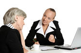 Businesspeople at the table — Stock Photo