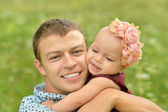 Father with his little daughter — Stock Photo