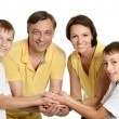 Stock Photo: Nice family of a four