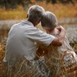 Old couple outdoors — Stock Photo #30070995