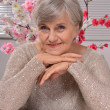Portrait of a happy aged woman — Stock Photo