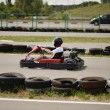 Teenage boy in go-kart — Stock Photo