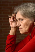Older sick woman — Stock Photo