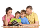 Family get together to play — Stock Photo