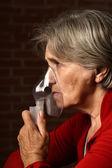 Older sick woman — Stock Photo