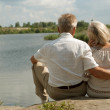 Happy elderly couple went for a walk — Stock Photo #30432241