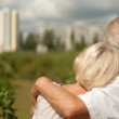 Happy elderly couple went for a walk — Stock Photo #30432343