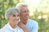 高齢者のカップルの肖像画 — ストック写真