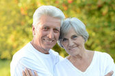 Mature couple on nature — Zdjęcie stockowe