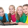 Girls with a laptop — Stock Photo #30734461