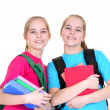 Girls with backpacks — Stock Photo #30734495