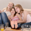 Foto de Stock  : Young girls relaxing