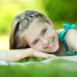 Happy girl resting — Stock Photo