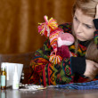 Girl is sick colds — Stockfoto