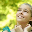 Cute girl in a park — Stock Photo #30735311