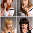 Different hair color — Stock Photo