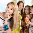 Girls on vacation in summer — Stock Photo