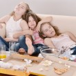 Stock Photo: Young girls relaxing