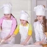 Cheerful girls cook — Stock Photo #30736563