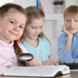 Children doing homework together — Stock Photo #30736619