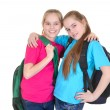 Girls with backpacks — Zdjęcie stockowe #30736675
